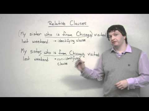 Writing - Relative Clauses overview