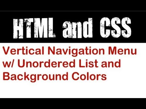 Vertical Navigation Menu with Unordered List and Background Colors