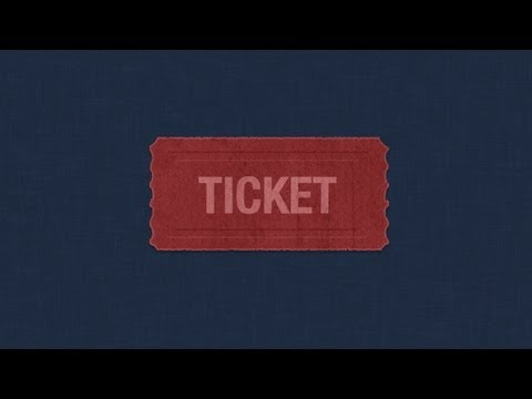 Photoshop: Rough Ticket Icon