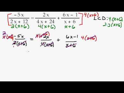Solving an Equation with Fractions by Factoring then Clear the Fractions