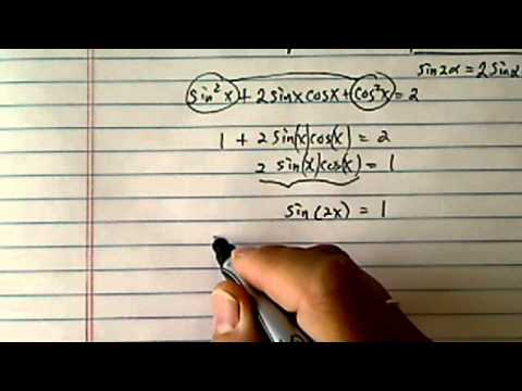 Trig Equation: (sinx+cosx)^2=2?