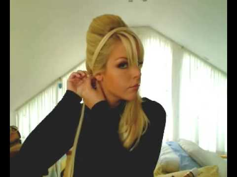 Quick 60's Inspired Hairband Bouffant Up-Do Ponytail Hairstyle