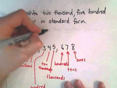 Writing Whole Numbers in Standard Form (English to Number!)