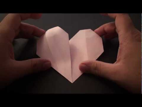 Origami Daily - 156 Easy Heart 01 (Valentine's Day) - TCGames [HD]