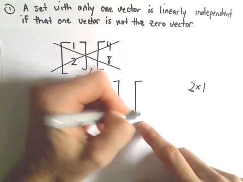 Useful Things to Remember About Linearly Independent Vectors