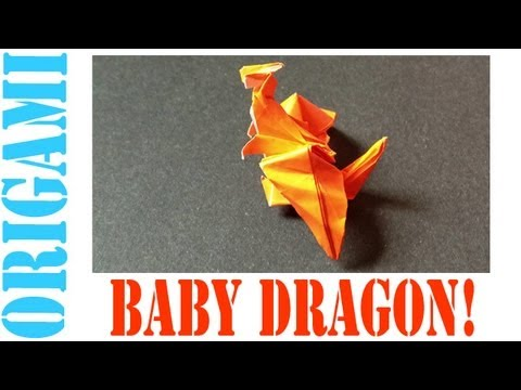 Origami Daily - 006: Baby Dragon - TCGames [HD]