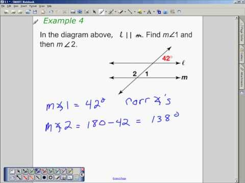 Properties of Parllel Lines - Geometry