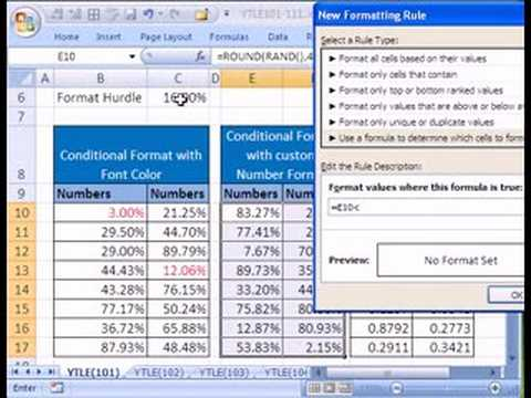 YTLE#101: Custom Number & Conditional Formatting - Excel