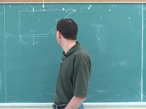 Rotational statics and dynamics problems (1)