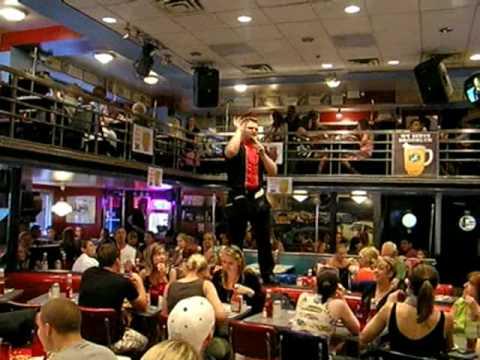 Singer at Ellens Stardust Diner, On Broadway, New York City
