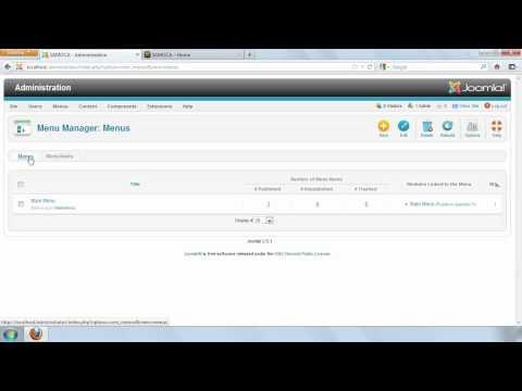 Understanding and configuring Joomla! 2.5 menus | lynda.com tutorial