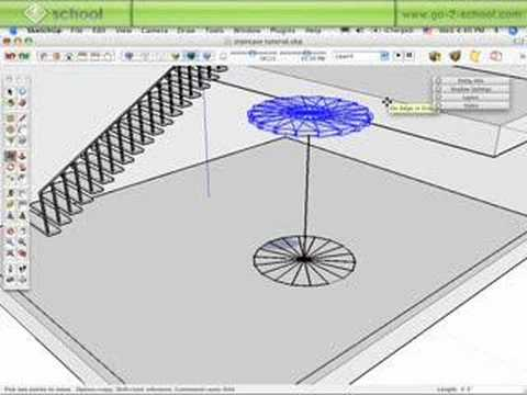 The Sketchup Show #38:Create Standard&Spiral Staircases(Pt2)