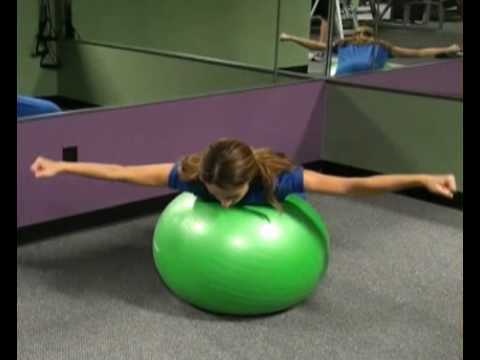 Reverse Fly on Resistance Ball : BeYourTrainer.com