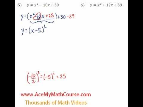Quadratics - Finding the Vertex Question #5