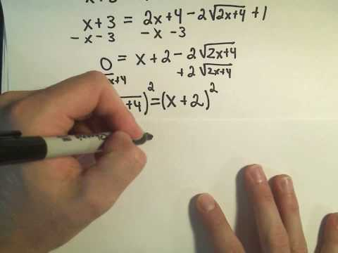 Solving an Equation Containing Two Radicals - Example 2