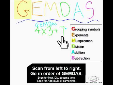 The Order of Operations PEMDAS (or GEMDAS)