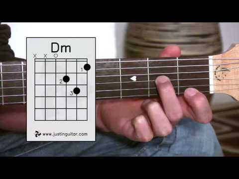 The Dmin Chord (Guitar Lesson BC-123) Guitar for beginners Stage 2