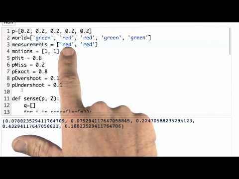 Sense And Move 2 Solution - CS373 Unit 1 - Udacity