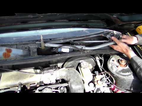Windshield Wiper Motor Removal