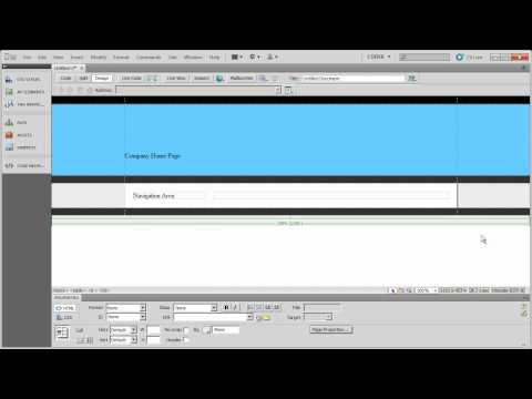 Working with Table Based Layouts in Dreamweaver CS5 - Part 5