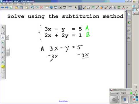 Solving Systems of Equations Algebraiclly Section 3.2 Algebra 2