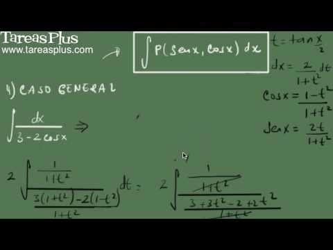 Sustitución general para integrales de seno y coseno 2