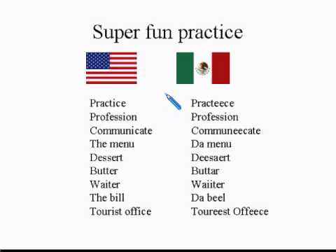 SPANISH SPEAKERS #2 How To American Accent Reduction Lesson