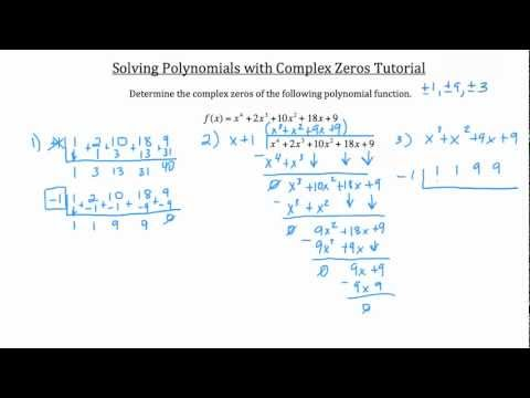 Polynomial Roots- Real and Complex