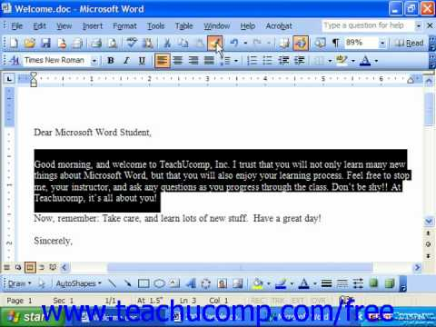 Word 2003 Tutorial Copying Paragraph Formatting Only Microsoft Training Lesson 6.5