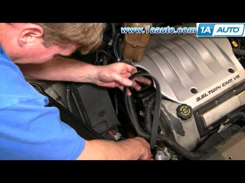 How To Install Replace Engine Serpentine Accessory Belt Olds Intrigue 3.5L 99-02 1AAuto.com