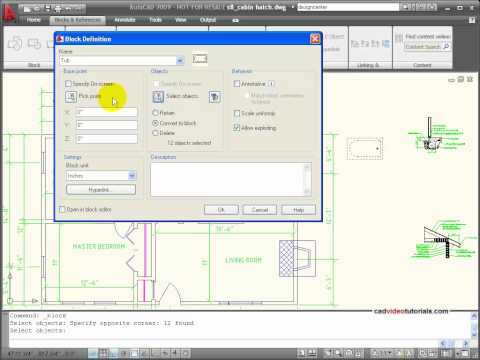 AutoCAD Tutorial -  Create Blocks or Symbols