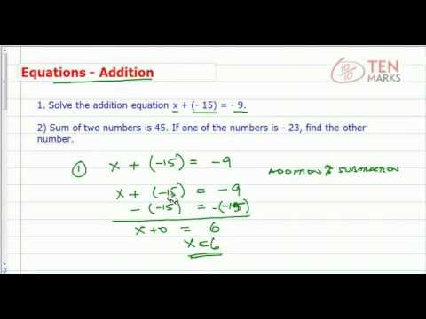 Write and Solve Addition Equations