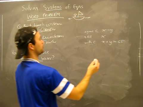 Solving Systems of Equations WORD PROBLEM 3: Substitution, Elimination Method Algebra Math Help