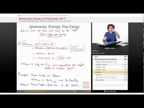 AP Chemistry: Spontaneity, Entropy, & Free Energy, Part 5