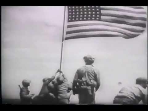 Marines Raise Flag Over Iwo Jima (1945)