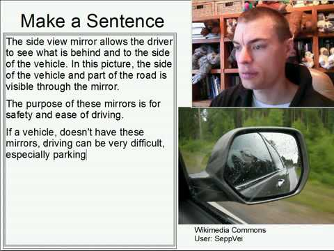 Learn English Make a Sentence and Pronunciation Lesson 116: Side View Mirror