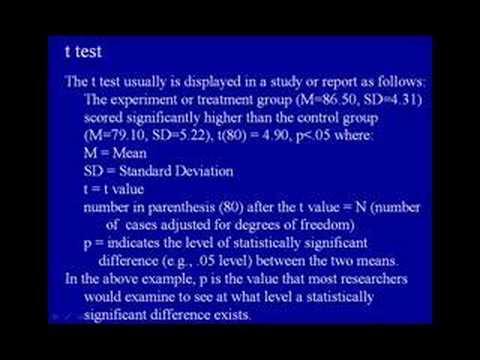 8B. t test - Dr. A.G. Picciano