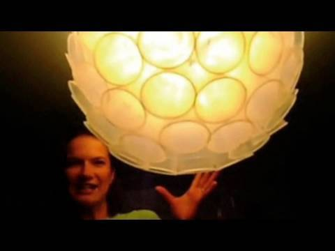 Plastic Cup Lamp Shade, Threadbanger Contest Entry