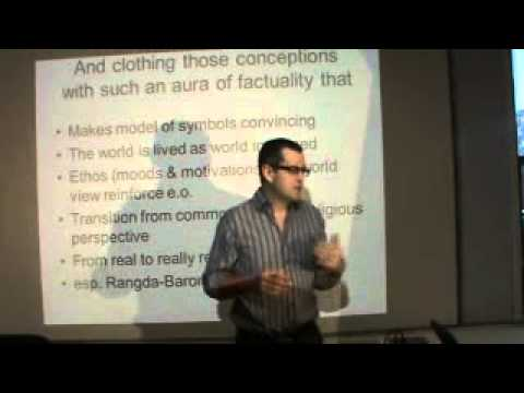 Anthropology & Symbols: Geertz (3 of 3) models of and models for