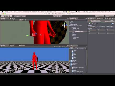 66. Unity3d Tutorial - Character Customization 3d Model Setup