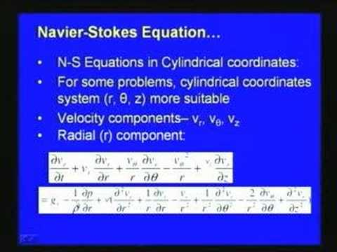 Lec-27 Navier Stocks Equations and Applications