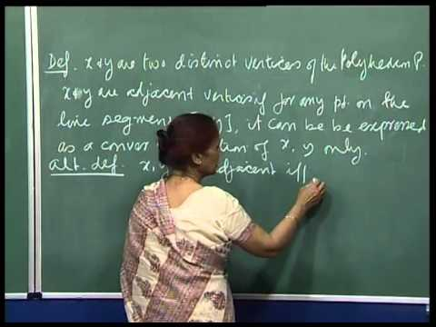 Mod-01 Lec-10 Big-M method,Graphical solutions, adjacent extreme pts and adjacent bfs