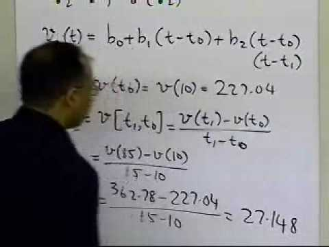 Newtons Divided Difference Polynomial Interpolation: Quadratic Interpolation: Example Part 1 of 2