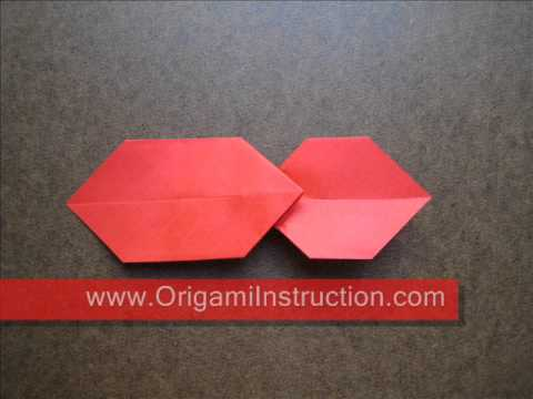 How to Fold Simple Origami Bow Tie - OrigamiInstruction.com