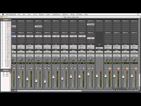 How to mix with audio compression | lynda.com tutorial