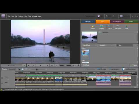 Adobe Premiere Elements 7 ch5: Adding Effects to Clips