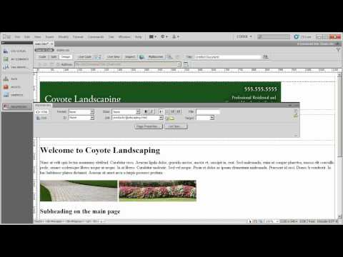 Setting up your top navigation - Coyote Landscaping - Part 8