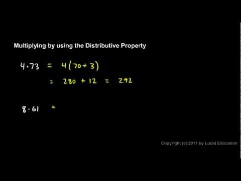 Prealgebra 1.5b - Multiplying with the Distributive Property