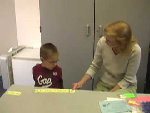 Kindergarten Math Assessment  Student 1