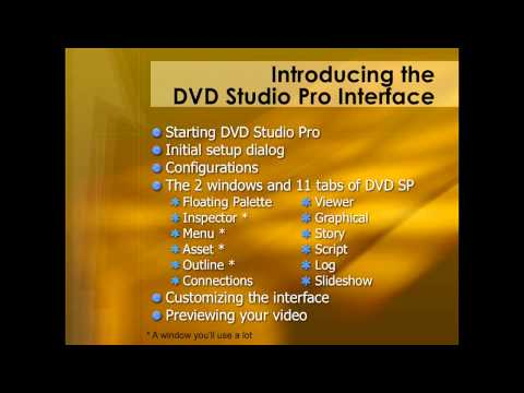 DVD Studio Pro: Introducing the interface | lynda.com